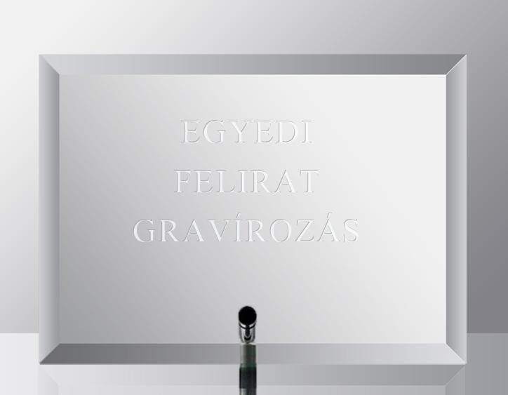 Üveglap gravírozás - fekvő
