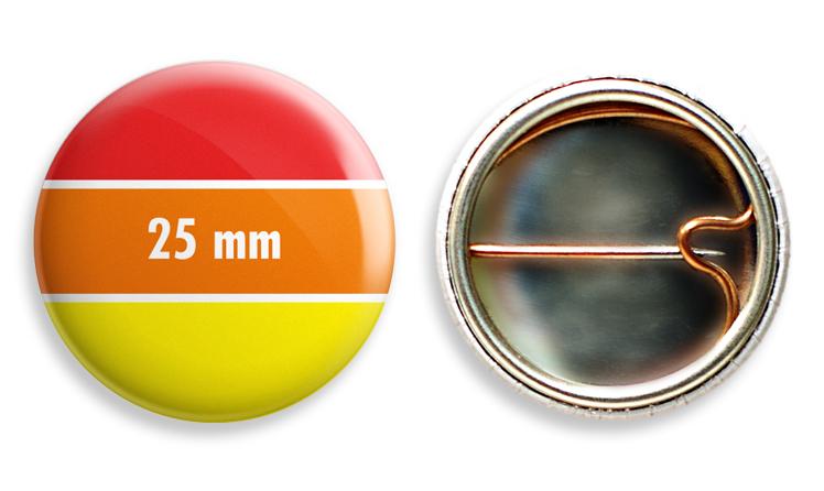 Kitűző 25 mm