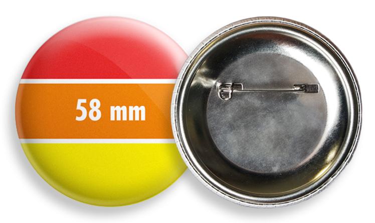 Kitűző 58 mm