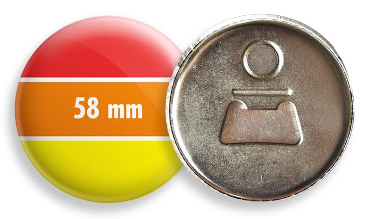 Sörnyitós hűtőmágnes 58 mm