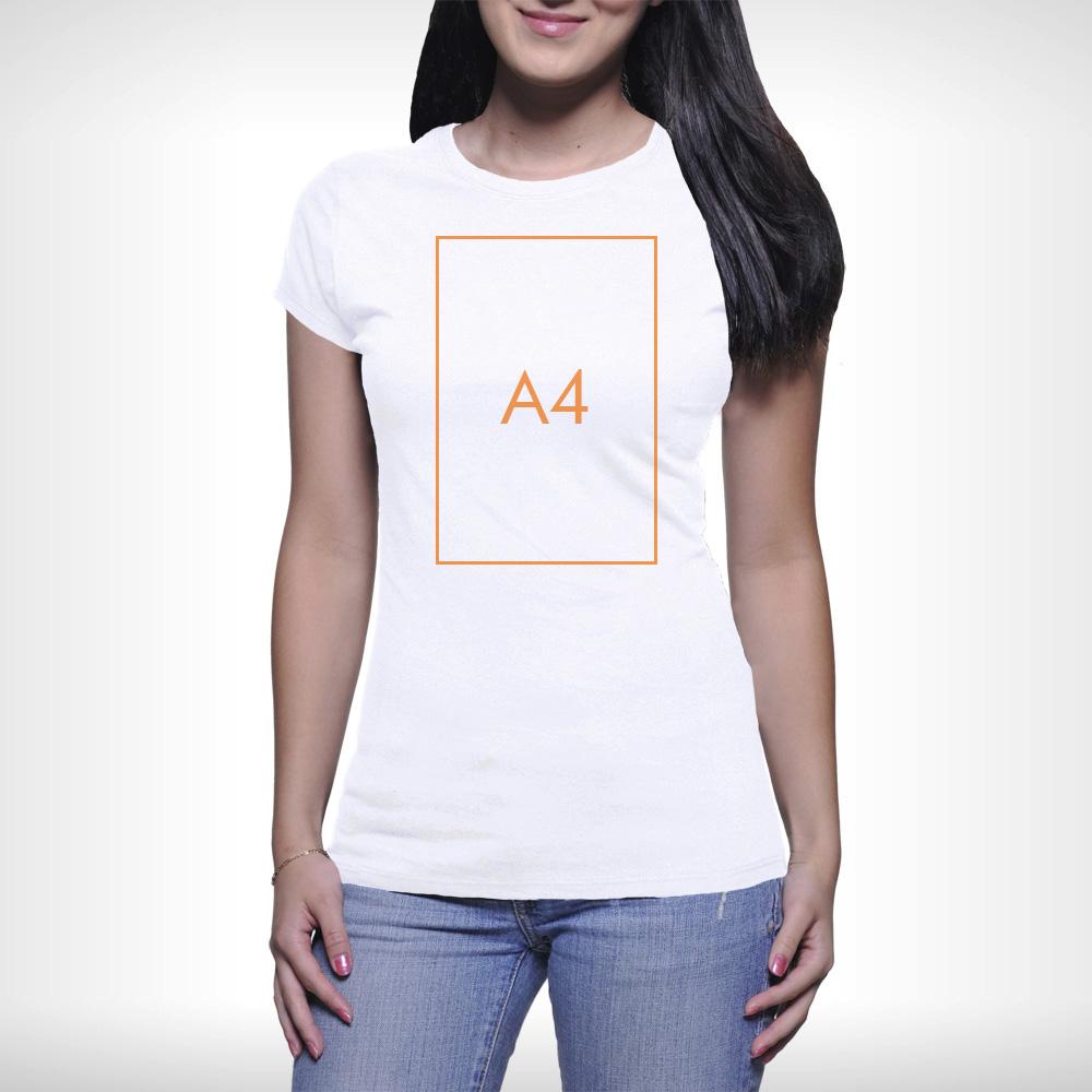 Női póló - A4 nyomtatás - 1 oldalon