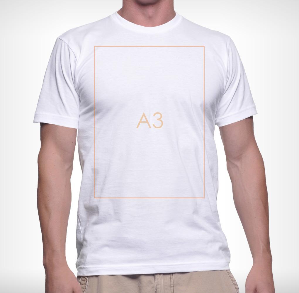 Férfi póló - A3 nyomtatás - 1 oldalon