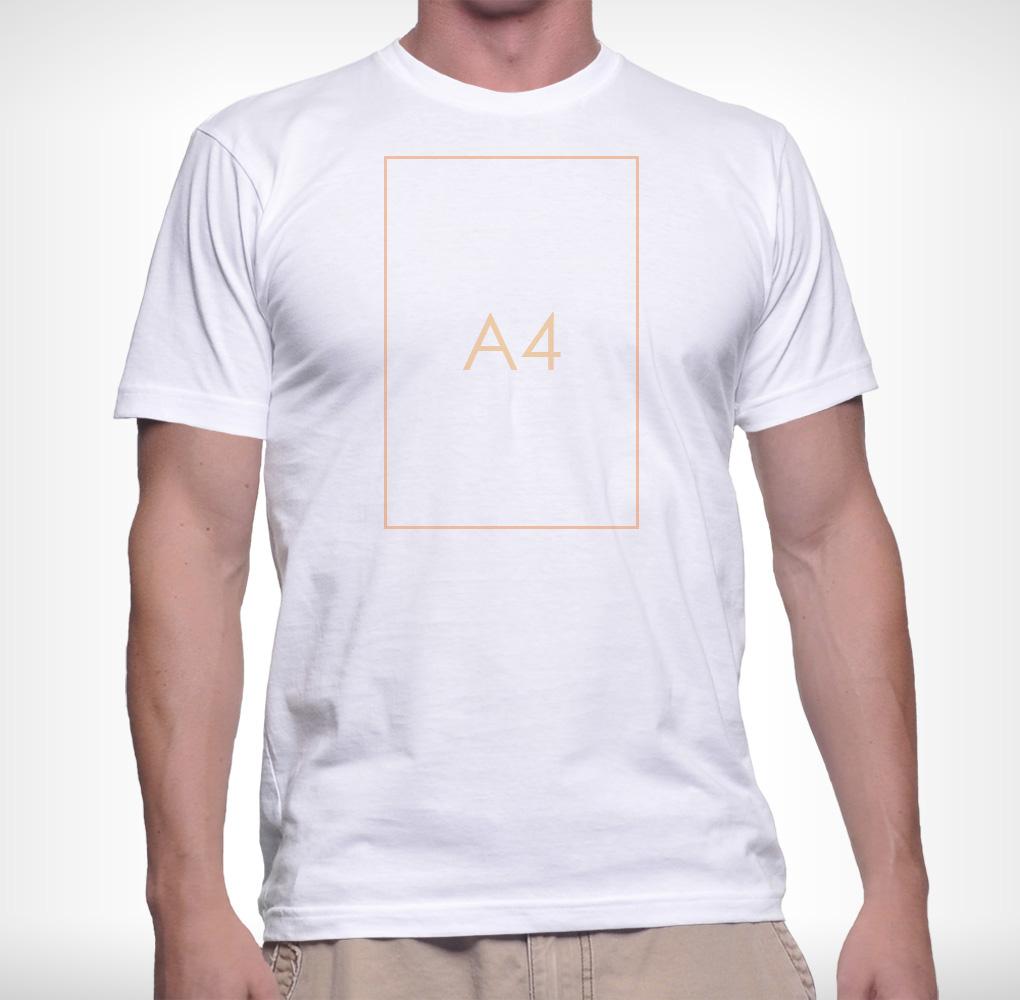 Férfi póló A4 nyomtatás - 1 oldalon