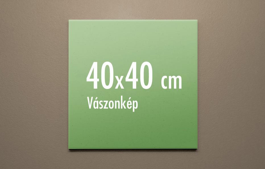 40 x 40 cm vászonkép