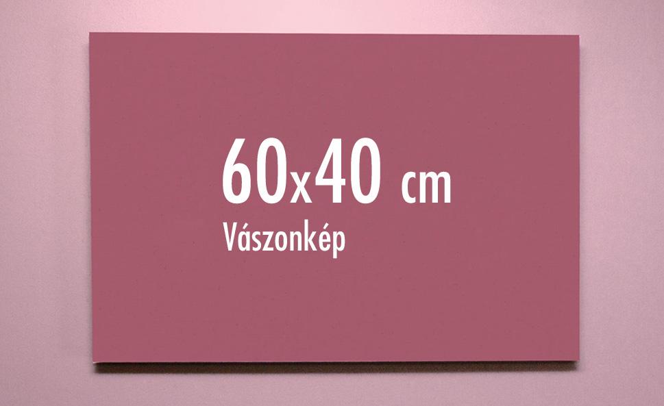 60 x 40 cm vászonkép
