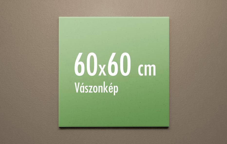 60 x 60 cm vászonkép