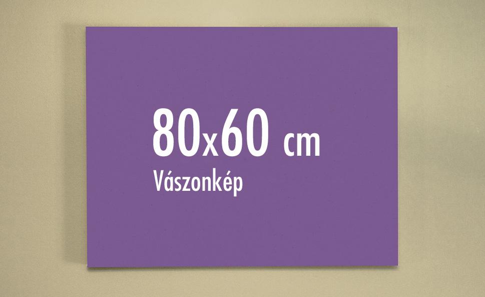 80 x 60 cm vászonkép