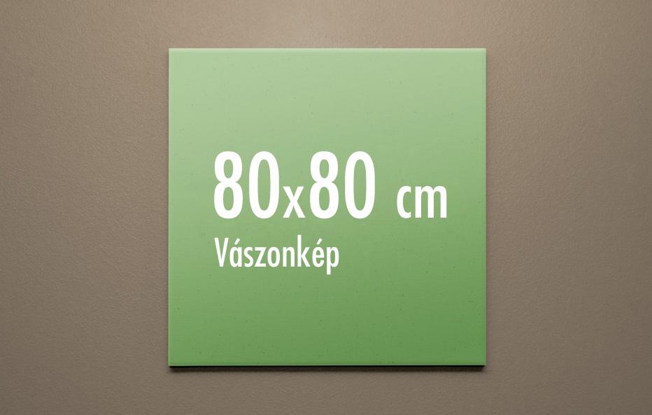 80 x 80 cm vászonkép